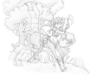 Dryad Warrior by Tselsebar