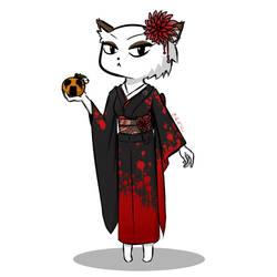 New OC and Sceaming Orange by kimidori-no-neko