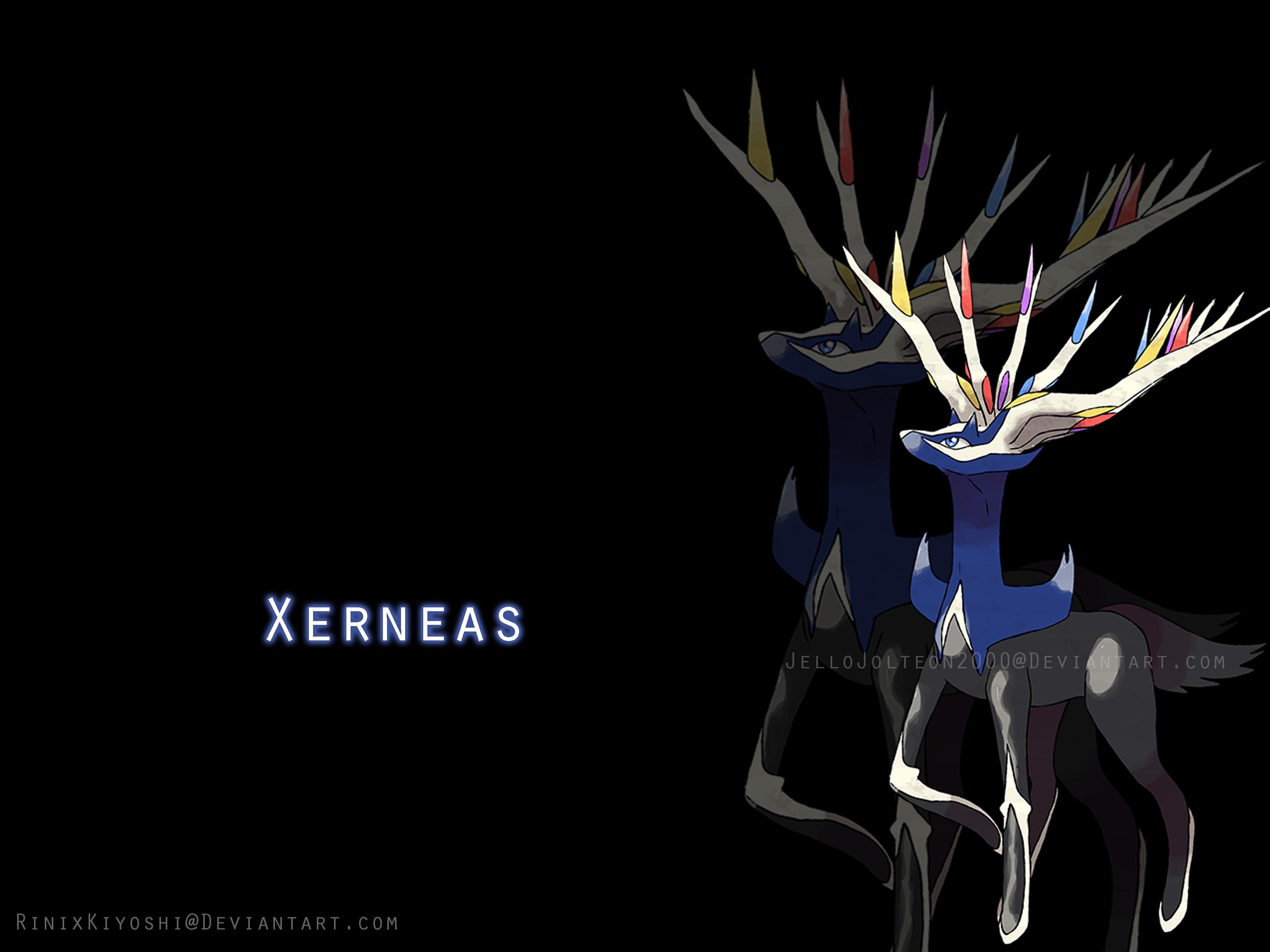 Xerneas fan art wallpaper