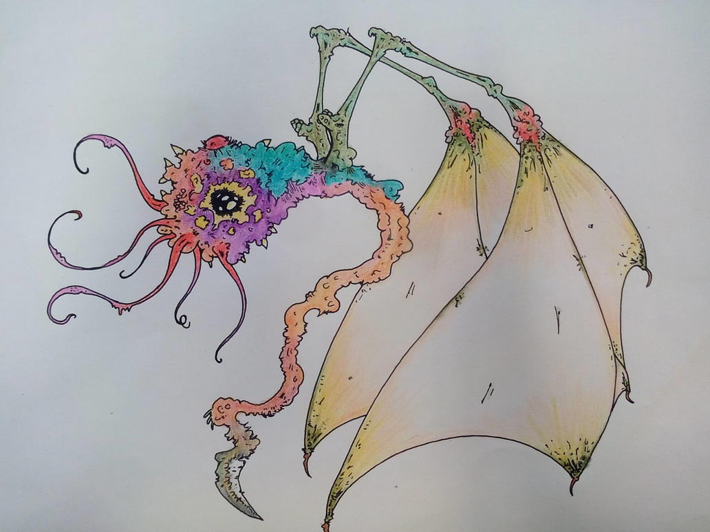 Flying Alien Creature by Greedo2007