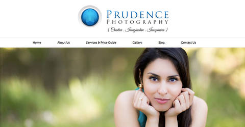 Prudence Photography Website Design Concept
