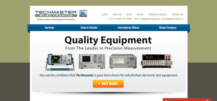 Techmaster Electronics Website Design