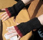 Black and Red fingerless glove