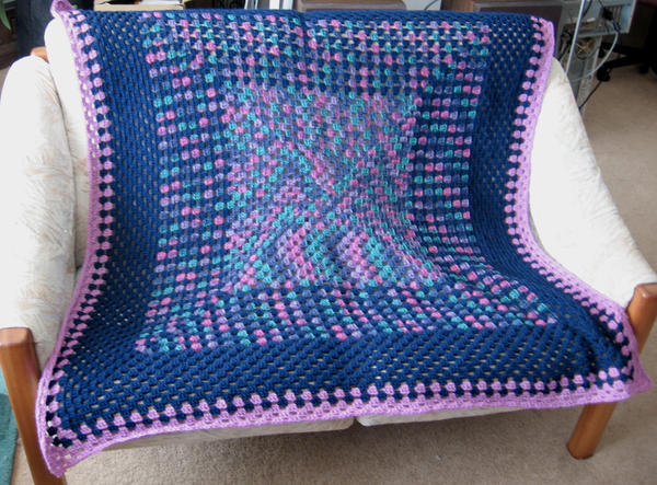 Multicolor afghan by LunarJadeStyles