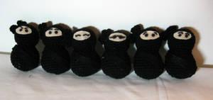 Ninjas of many faces - crochet