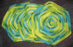 Crocheted Hexagonal Dishcloth