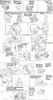 Knuckles and Rouge manga p.1 by kippinoka