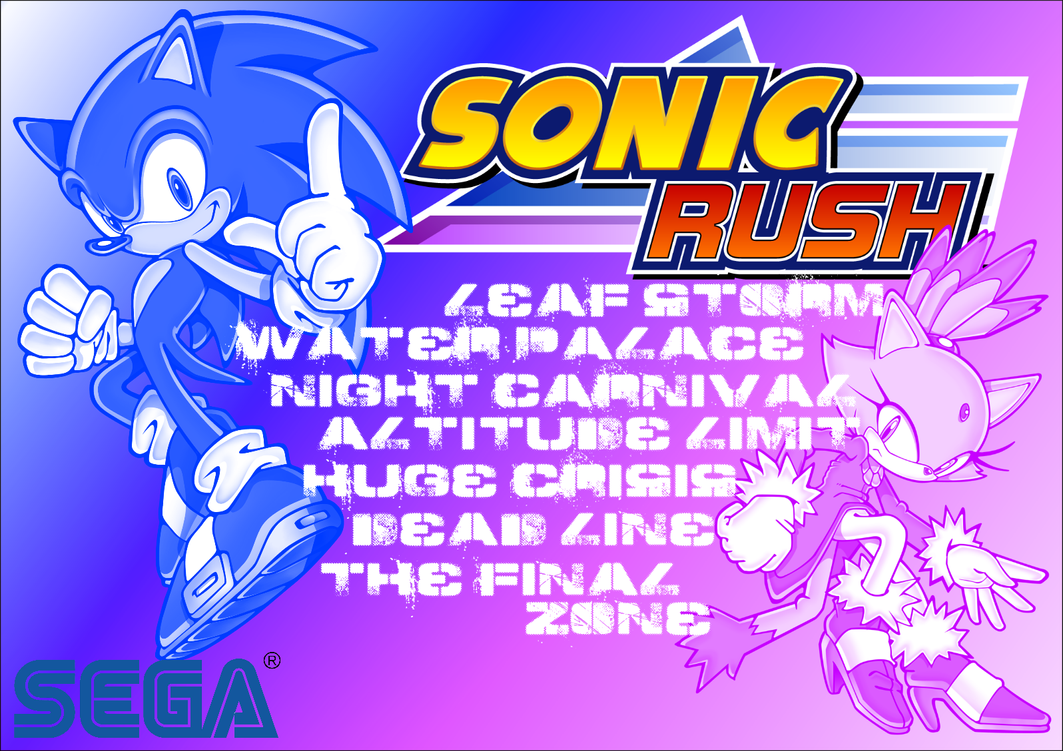 Sonic Rush - Stages - Poster - Sonic and Blaze by BingotheCat