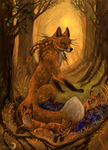 The fire spirit of the forest