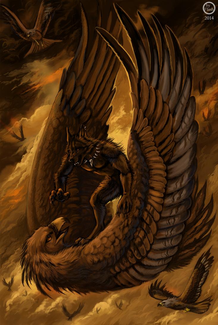 Burning sky by FlashW