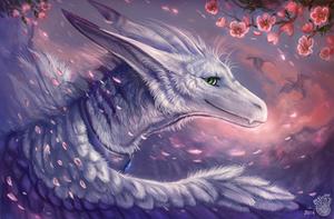 Flying petals by FlashW