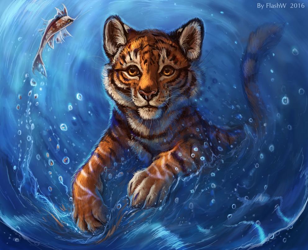 Feel the water by FlashW