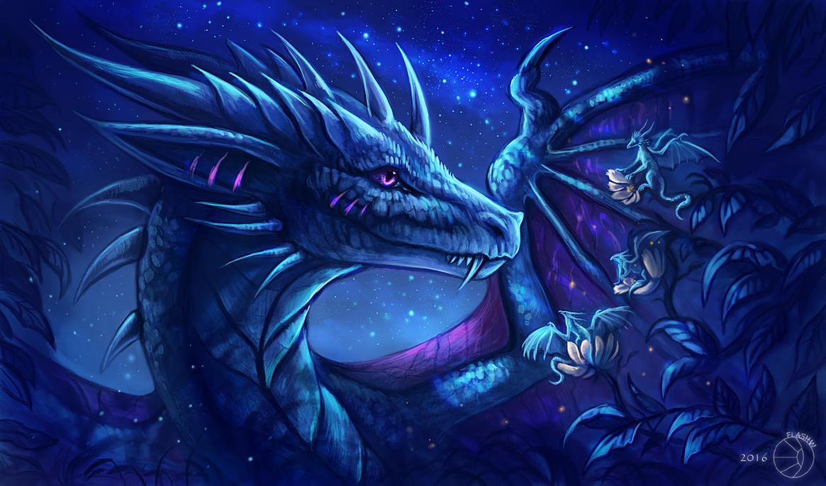 Night dragon by FlashW