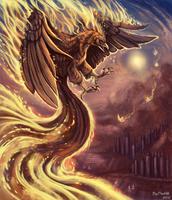 Fire in the sky by FlashW