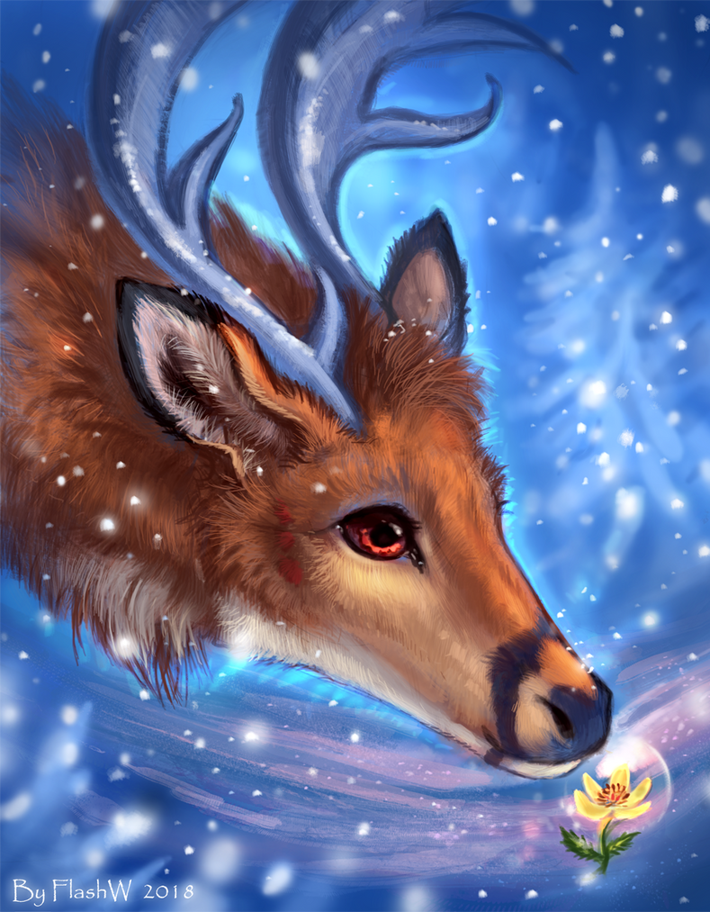 Winter flower by FlashW