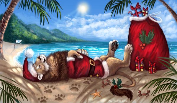 Santa's vacation by FlashW