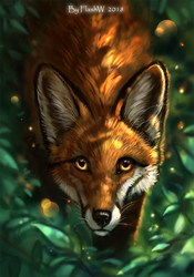 In the forest by FlashW
