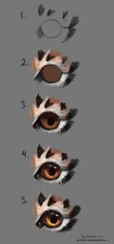 Tiger's eye (Step by step) by FlashW