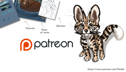 Patreon ( Tutorials, step by steps and etc - open)