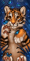 Tiger paper bookmark