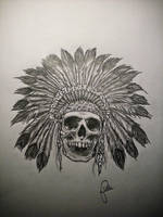 indian skull by fieldeee