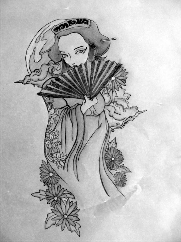 japanese geisha tattoo designs ideas picture own tattoo. Black Bedroom Furniture Sets. Home Design Ideas