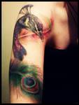 peacock tattoo 2