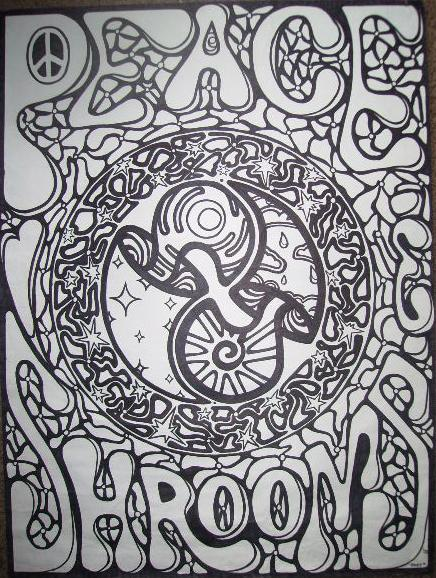 Trippy Shroom Coloring Pages Coloring Pages