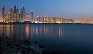 Dubai Sea Cityscape by Thameralhassan