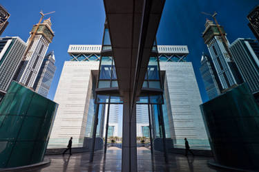 Dubai DIFC Reflection