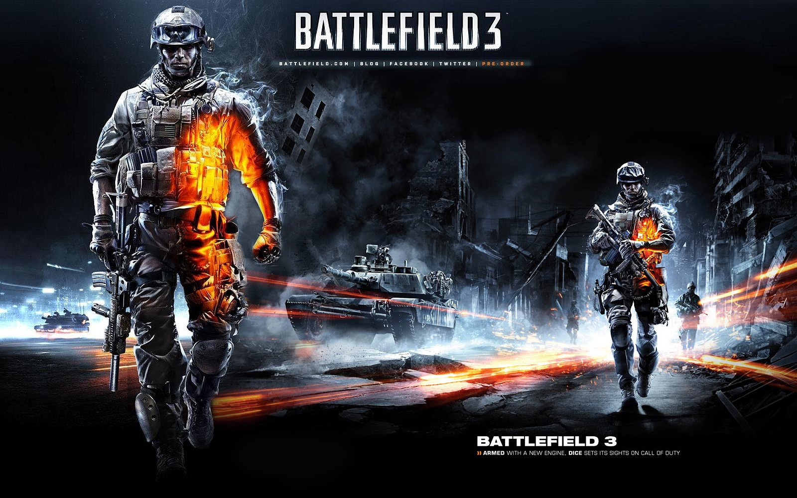 Battlefield 3 Wallpaper by marvnation