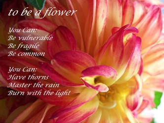 to be a flower