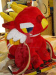 Commissioned dragon plush.