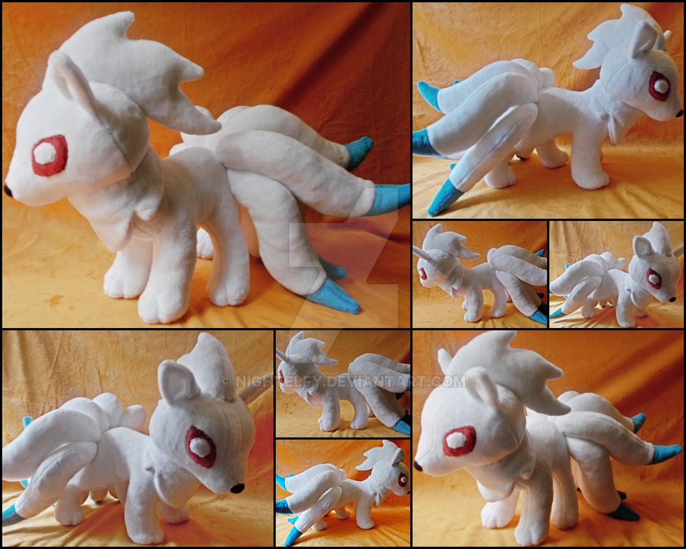 Shiny Ninetails Plush. by nightelfy
