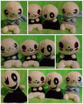 Gaster, Sans, Swap and Fell plush by nightelfy