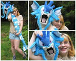 Giant Gyarados plush by nightelfy