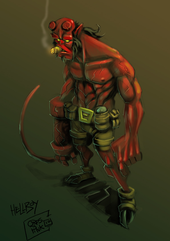 HELLBOY by MightyMoose