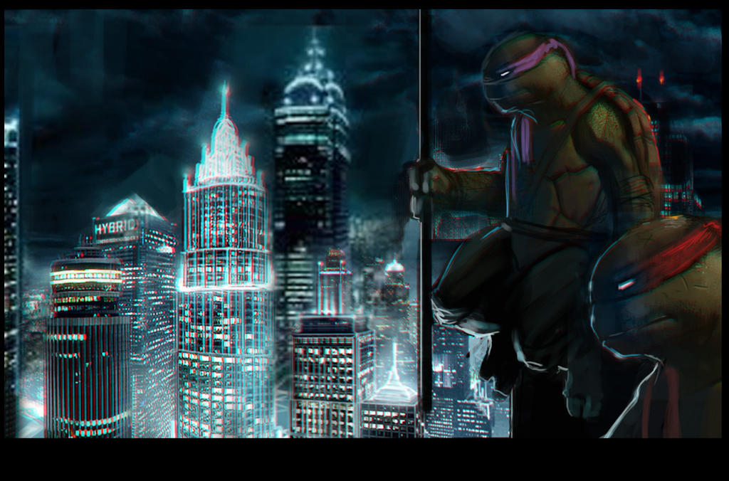 Turtles CITY doodle SMALL by MightyMoose