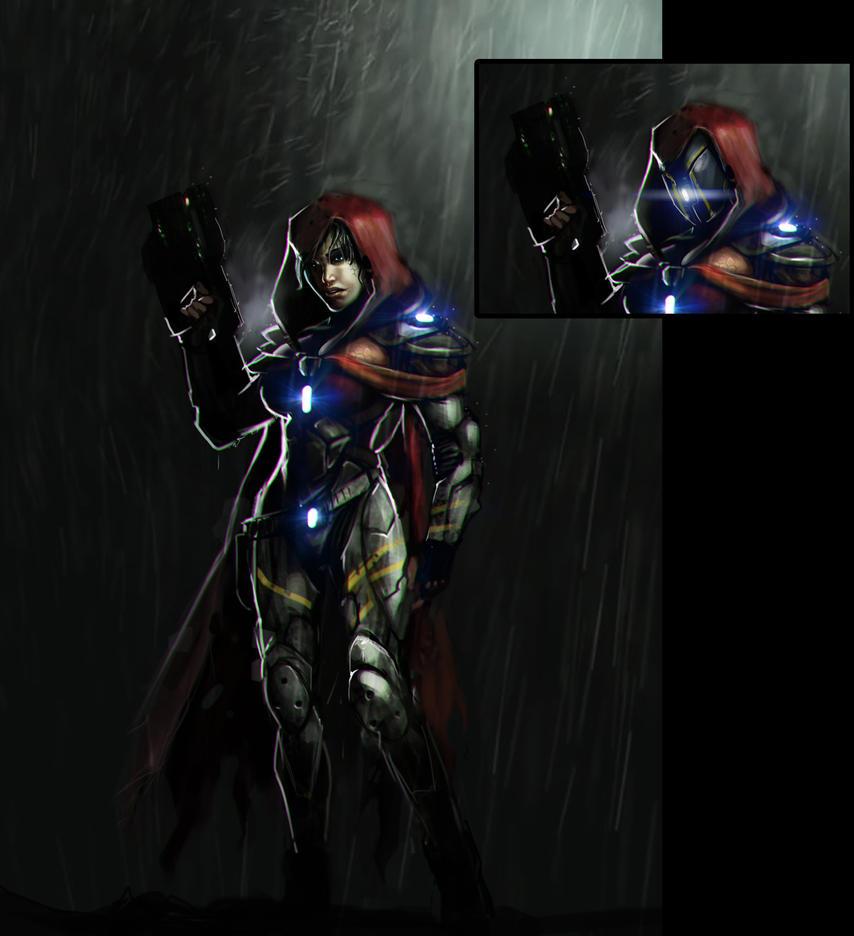 Female Mercenary by MightyMoose