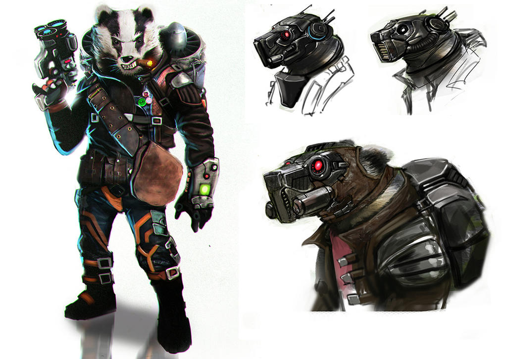 Space Badger by MightyMoose