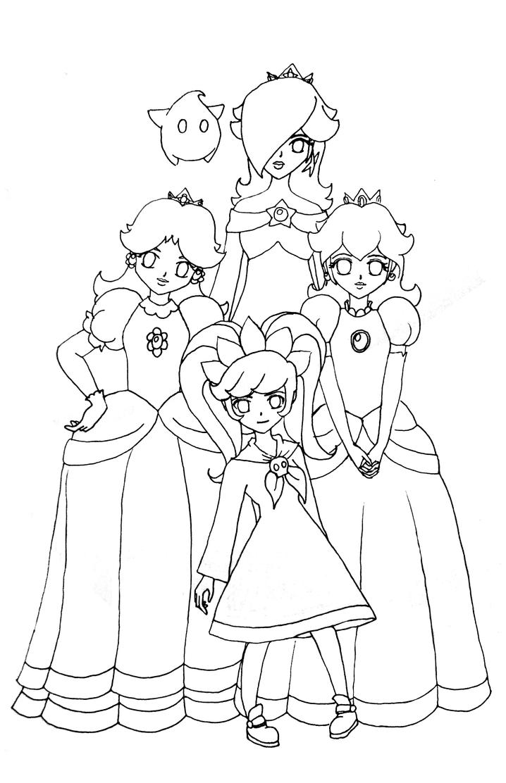 Princess rosalina free coloring pages for Rosalina coloring pages