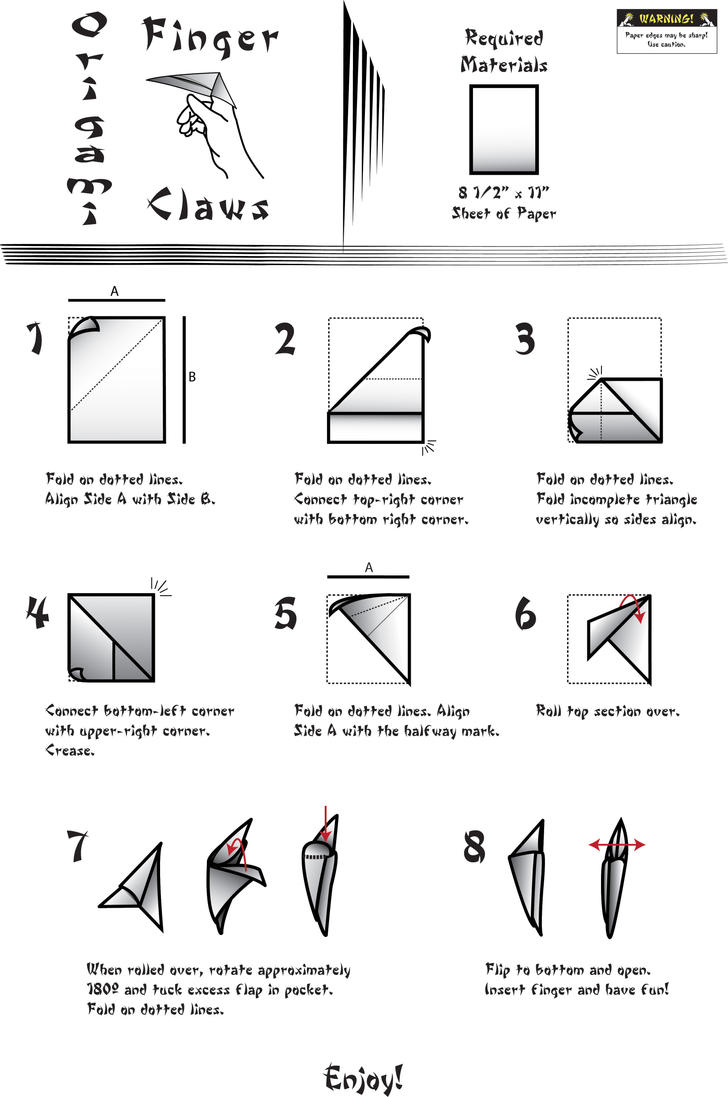 origami finger claws by empud on deviantart