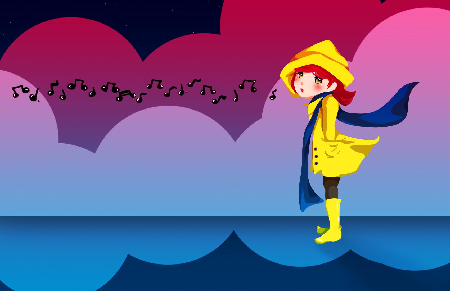 Singing In The Rain Wallpaper By Little Star Of Light On Deviantart