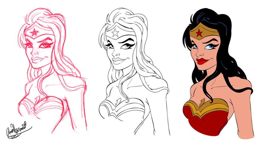 Wonder Woman Bust Progress by Anamated