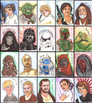 Star Wars Charity Sketch Cards