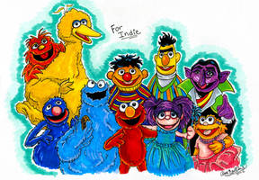 Sesame Street markers Commission by Anamated