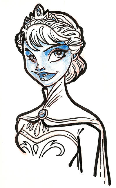 Frozen Elsa Coronation Sketch By Anamated On DeviantArt