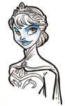 Frozen Elsa Coronation sketch