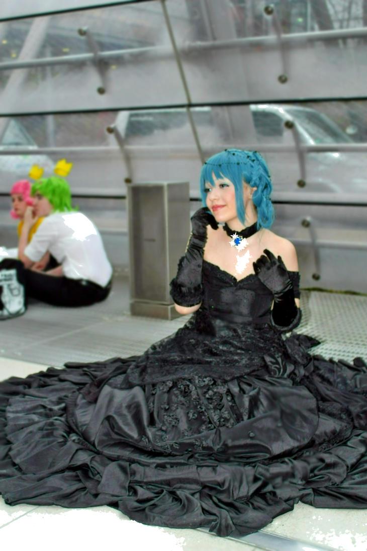 Woman In Black Dess by GRANA53