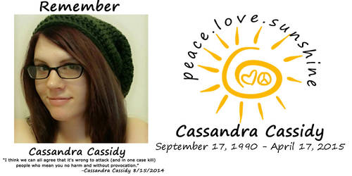 Remember Cassandra Cassidy by Wlfhrted